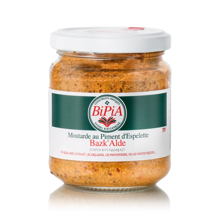 MOUTARDE AU PIMENT D'ESPELETTE 180G